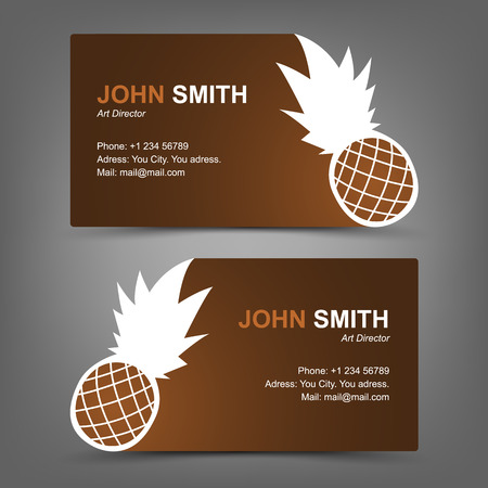 Business card pineapple Vector