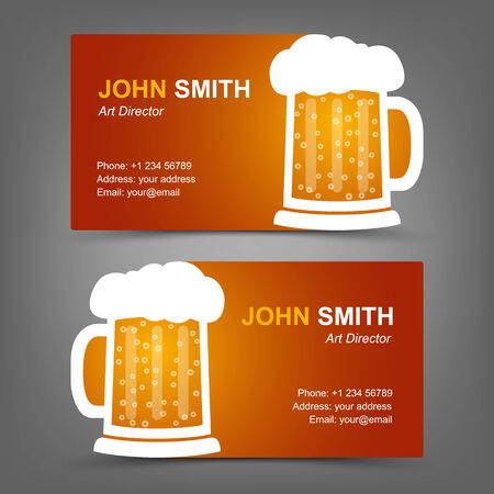Business card beer Vector
