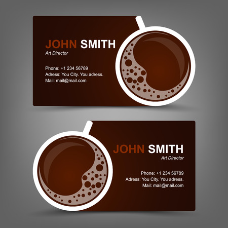 business: Business card coffee