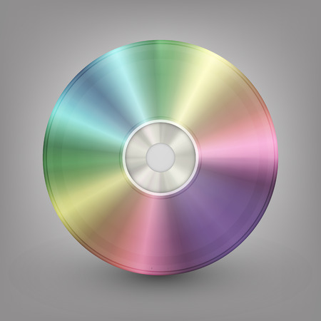 storage disk: Blue-ray, DVD or CD disc  Vector illustration