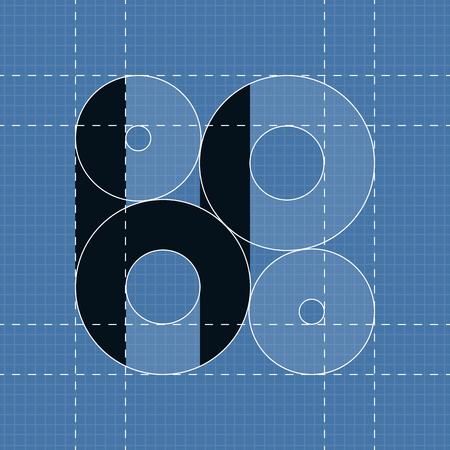 paper art projects: Round engineering font. Symbol H. Vector illustration in eps10