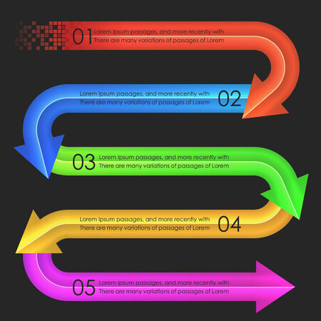 Infographics design template. Arrows. Vector illustration in eps10 Vector