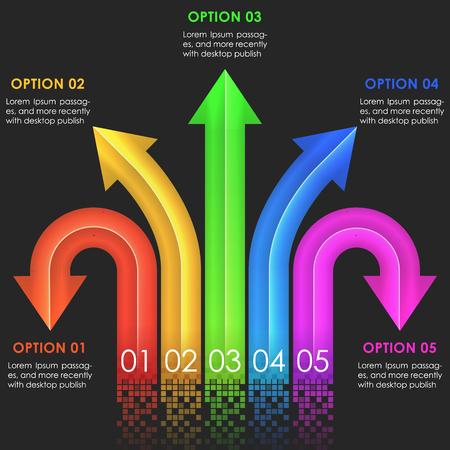 arrows vector: Infographics design template. Arrows Vector illustration in eps10 Illustration