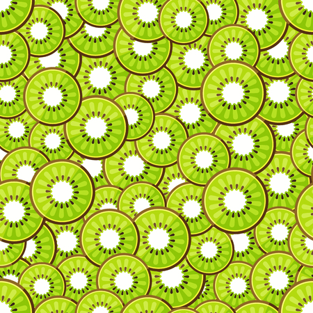 chopped: Seamless pattern chopped kiwi. Vector illustration in eps10