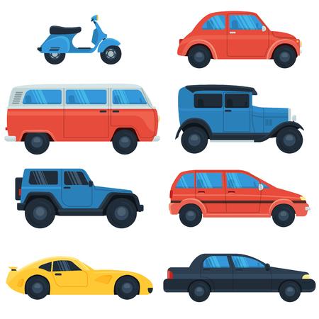 평면 자동차 아이콘을 설정합니다.