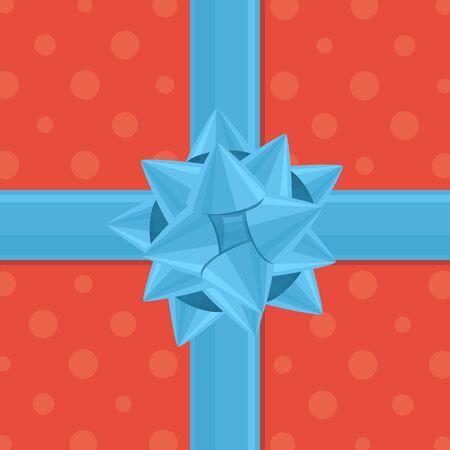 활 선물 포장. 일러스트