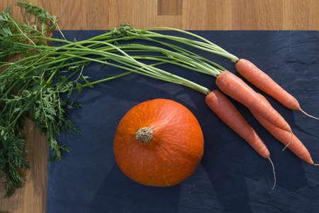 velvety: Carrots and Poptimarron