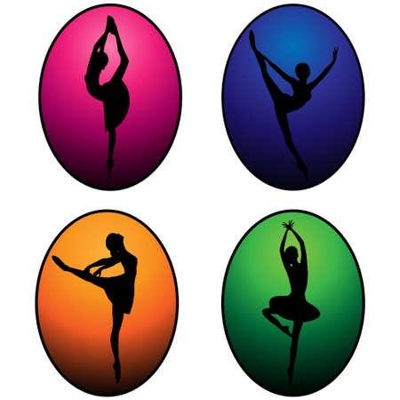 vector set of ballet dancers