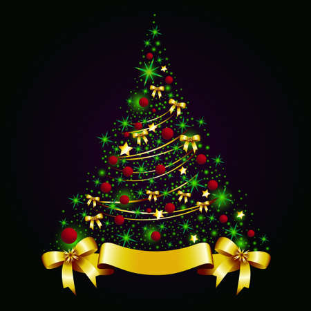 Christmas tree    Stock Vector - 17006189