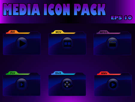 wmv: media icon pack