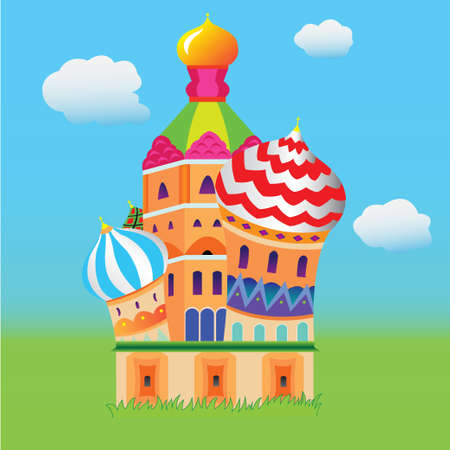 Russia, Moscow  Illustration Vector