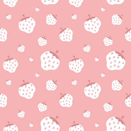 Creamy strawberry wallpaper, background Illustration