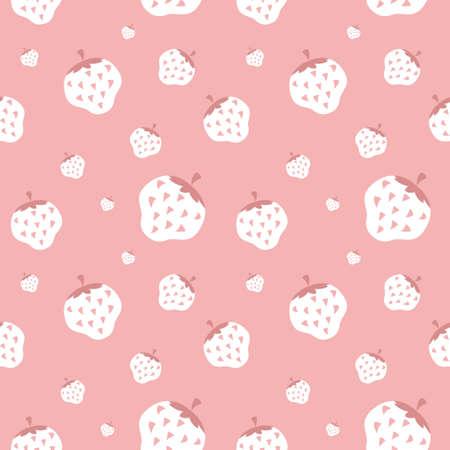 cremoso: Cremoso wallpaper morango, fundo Ilustra��o