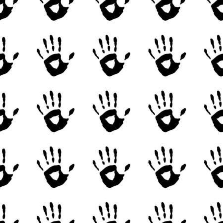 handprints: Seamless pattern with a handprints