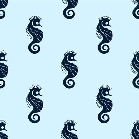 Seamless Vector Pattern of Sea Horse