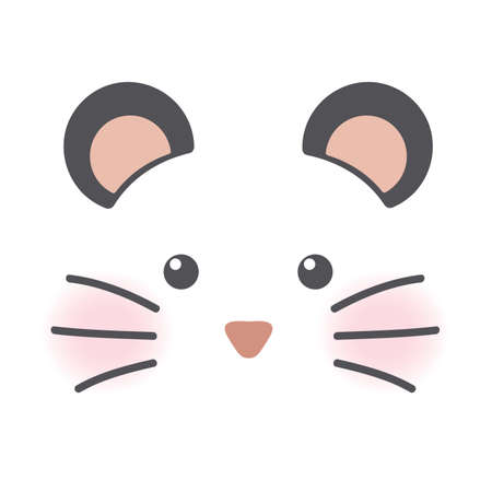 Cute hamster or mouse face