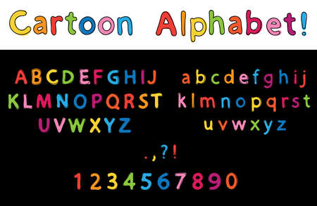 spelling book: Vector Illustration of cartoon Letters. Alphabet Illustration