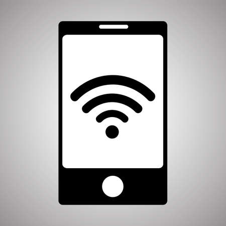 Wi- Fii icon isolated on background. Smartphone Wi- Fi.