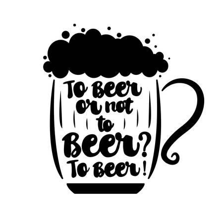 To beer or not to beer. Vector illustration
