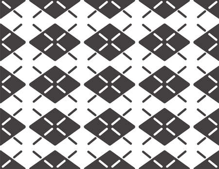 Grey wallpaper. Seamless vector pattern with rhombus.