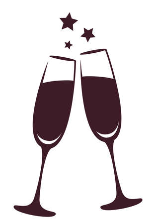 Champagne glasses 矢量图像