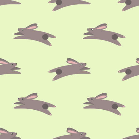 hares: Jumping hares. Vector pattern Illustration