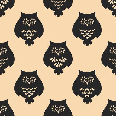 patten: Owl seamless patten. Vector
