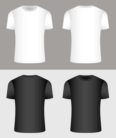 T-shirt. Black and white. Vector Ilustrace