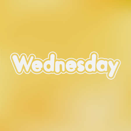 wednesday: Wednesday. Vector card for social media content, cards, wall art, website, blog Illustration