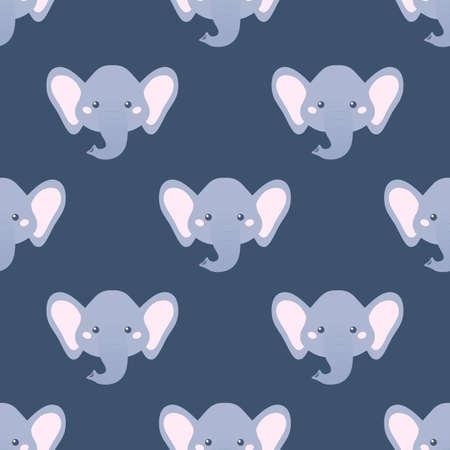 catroon: Catroon elephant. Seamless vector pattern Illustration