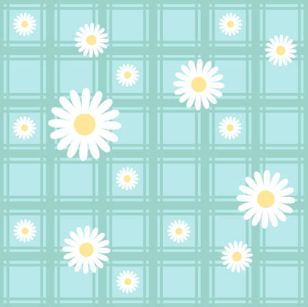 camomiles: Seamless pattern with camomiles Illustration