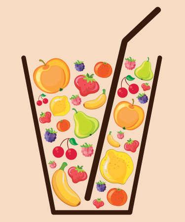 Fruit Juice. Vector illustration