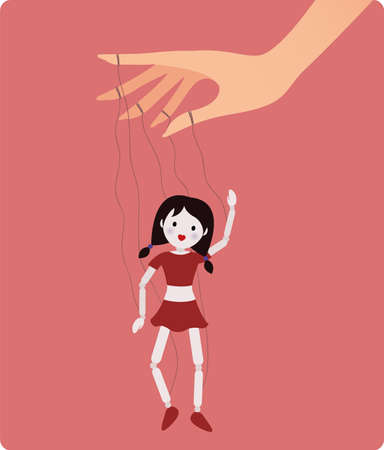Marionette doll. Vector illustration