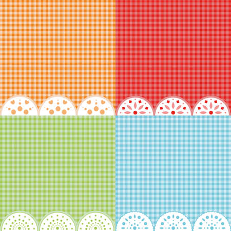 Set of 4 colorful wallpapers. Vector background.
