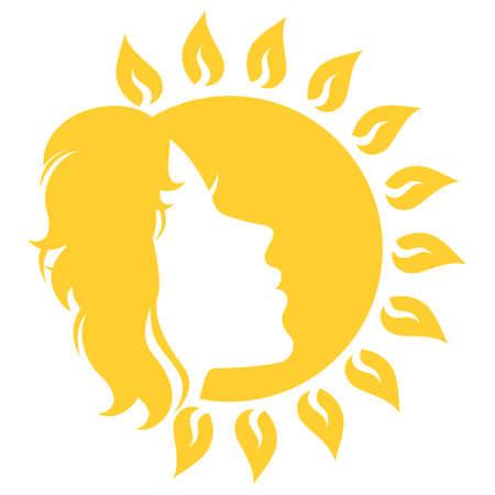 solarium: Sunny face Illustration