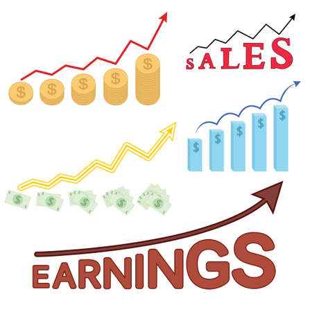 Info graphic vector set. Earnings