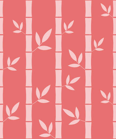 Seamless pattern with silhouettes bamboo Illustration