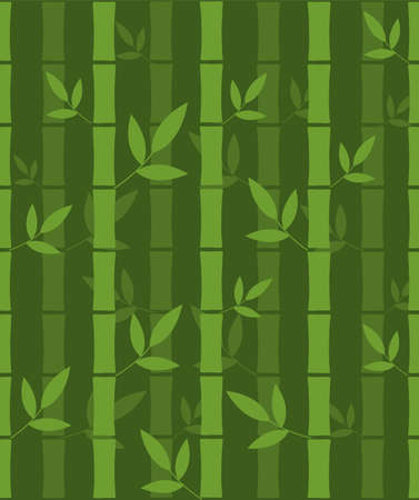 Seamless pattern with bamboo