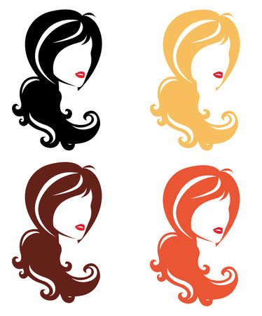 Vector collection of girls Illustration