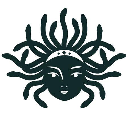 medusa: Medusa Gorgona. Vector illustration