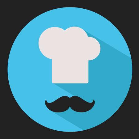 flat: Chef. Flat vector icon