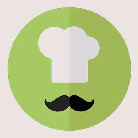 flat: Flat vector icon. Chef