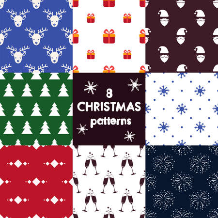 8 Christmas vector patterns