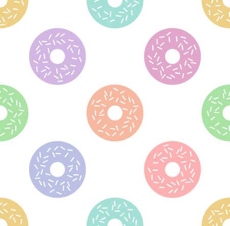 Cartoon vector donuts. Seamless pattern Illustration