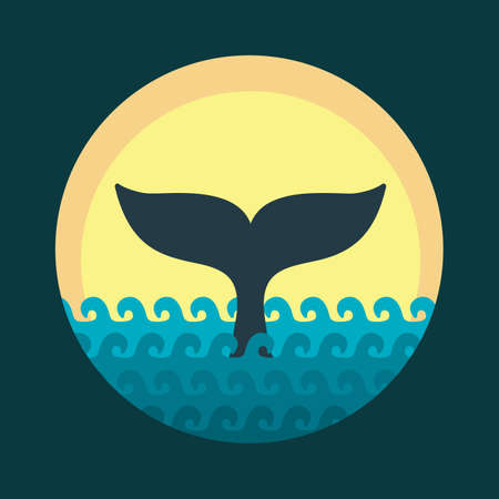 Whale tale. Vector illustration