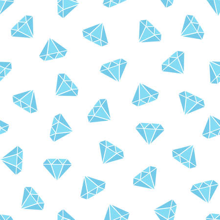 Pattern with diamonds in flat style on white background
