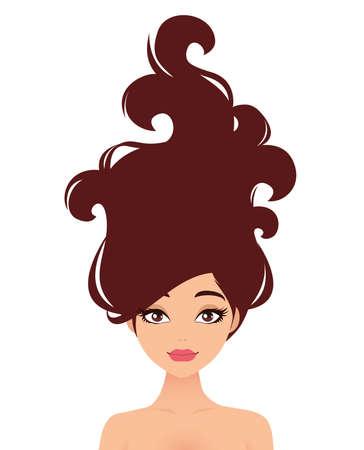 Hair beauty illustration. Illustration