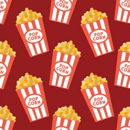 Popcorn in a bucket cartoon style.