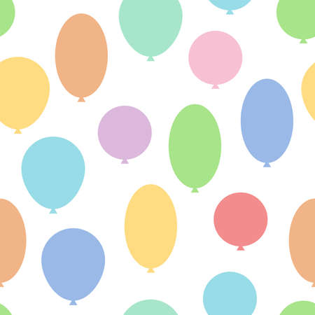 happy birtday: Holiday balloons. Seamless vector pattern