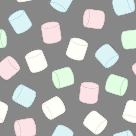 カラフルなマシュマロ。シームレスなベクトル パターン